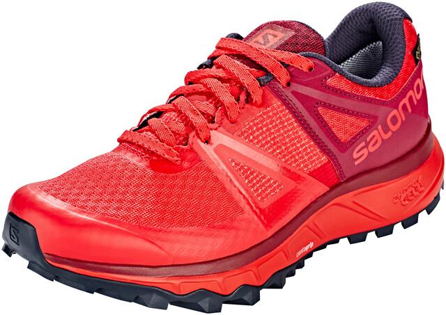 Salomon Trailster GTX Shoes Dame hibiscusbeet redgraphite